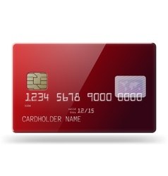 Glossy credit card vector