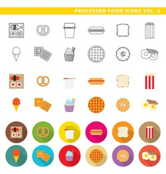 Processed food icons 002 vector