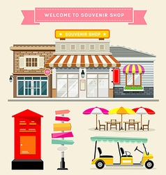 Souvenir shop collections concepts design vector