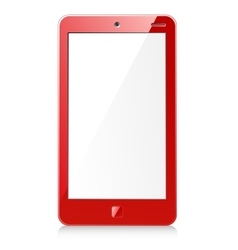 New red smartphone vector
