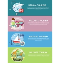 Wildlife wellness medical and nautical tourism vector