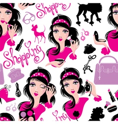 Seamless pattern for fashion design glamor lovely vector