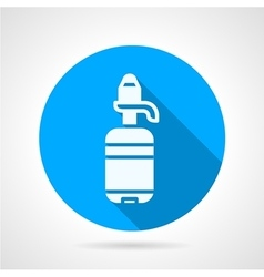 Bottle with pump blue round icon vector