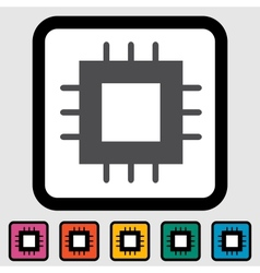 Electronic chip icon vector