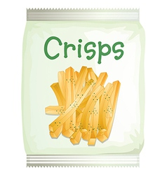 A packet of frech fries vector