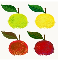 Apple fruits vector