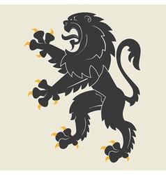 Heraldic lion34 vector