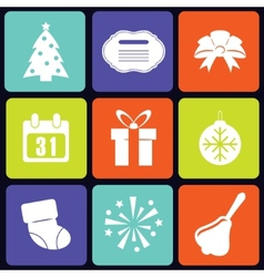 New year icons square vector