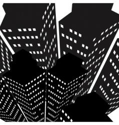 Skyscrapers icon vector