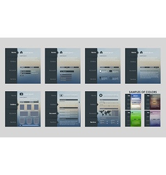 Design template interface vector