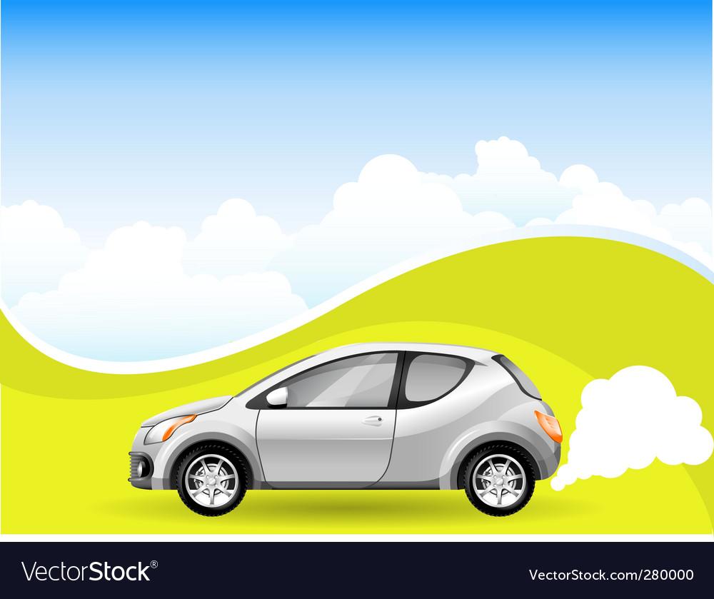 Alternative energy car vector | Price: 1 Credit (USD $1)