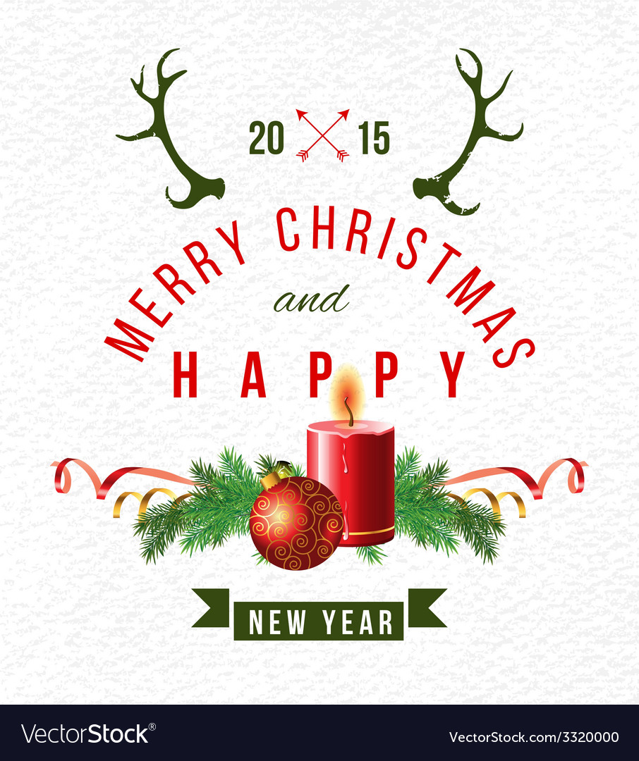 Christmas background with type design vector   Price: 1 Credit (USD $1)