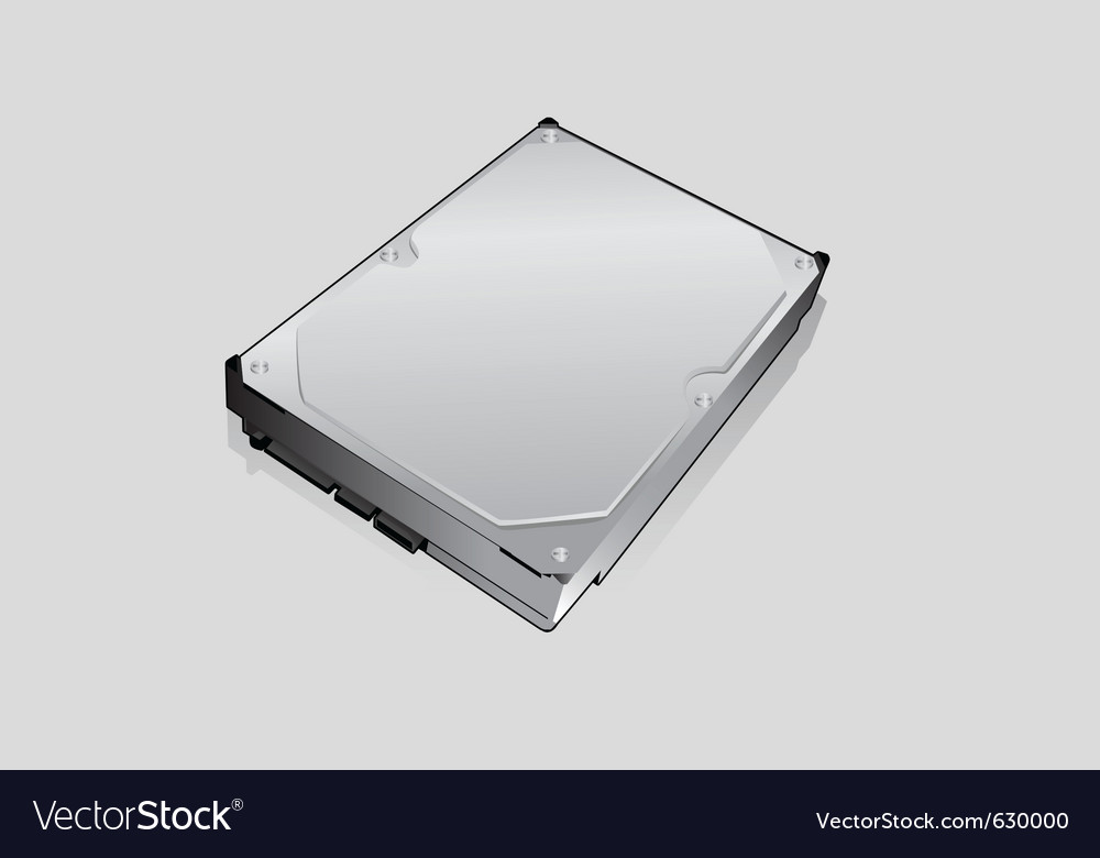 Computer hard drive vector | Price: 1 Credit (USD $1)