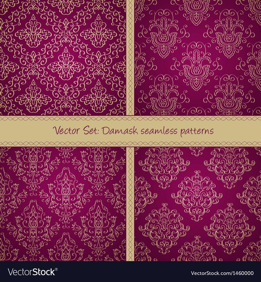 Damask floral textile patter vector | Price: 1 Credit (USD $1)
