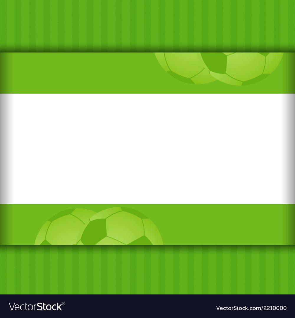 Football border background on green vector | Price: 1 Credit (USD $1)