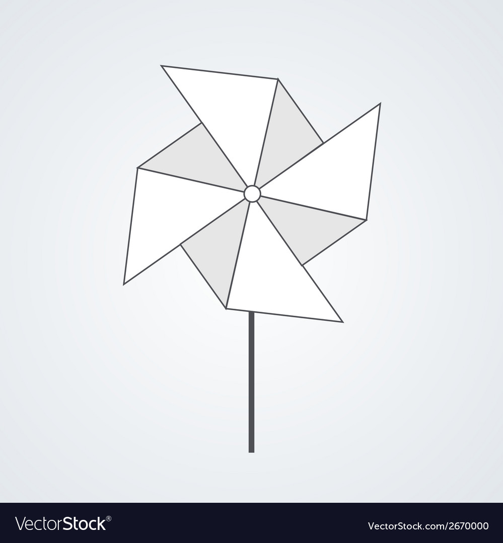 Modern windmill background vector | Price: 1 Credit (USD $1)