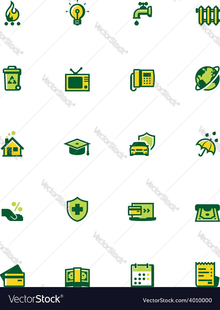 Paying bills icon set vector | Price: 1 Credit (USD $1)