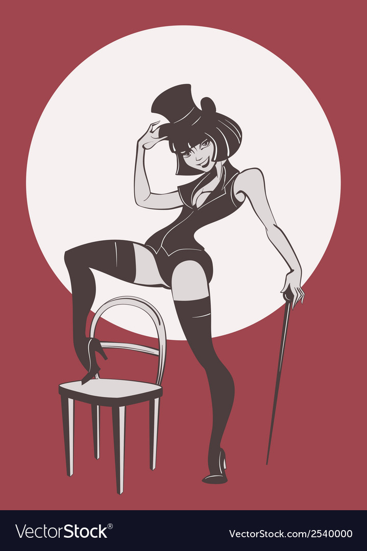 Perfomance of burlesque artist vector | Price: 3 Credit (USD $3)