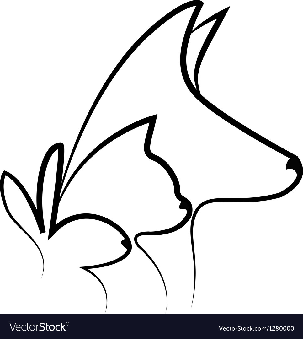 Pets heads logo vector | Price: 1 Credit (USD $1)