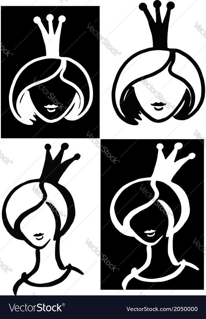 Princess beauty queen vector | Price: 1 Credit (USD $1)