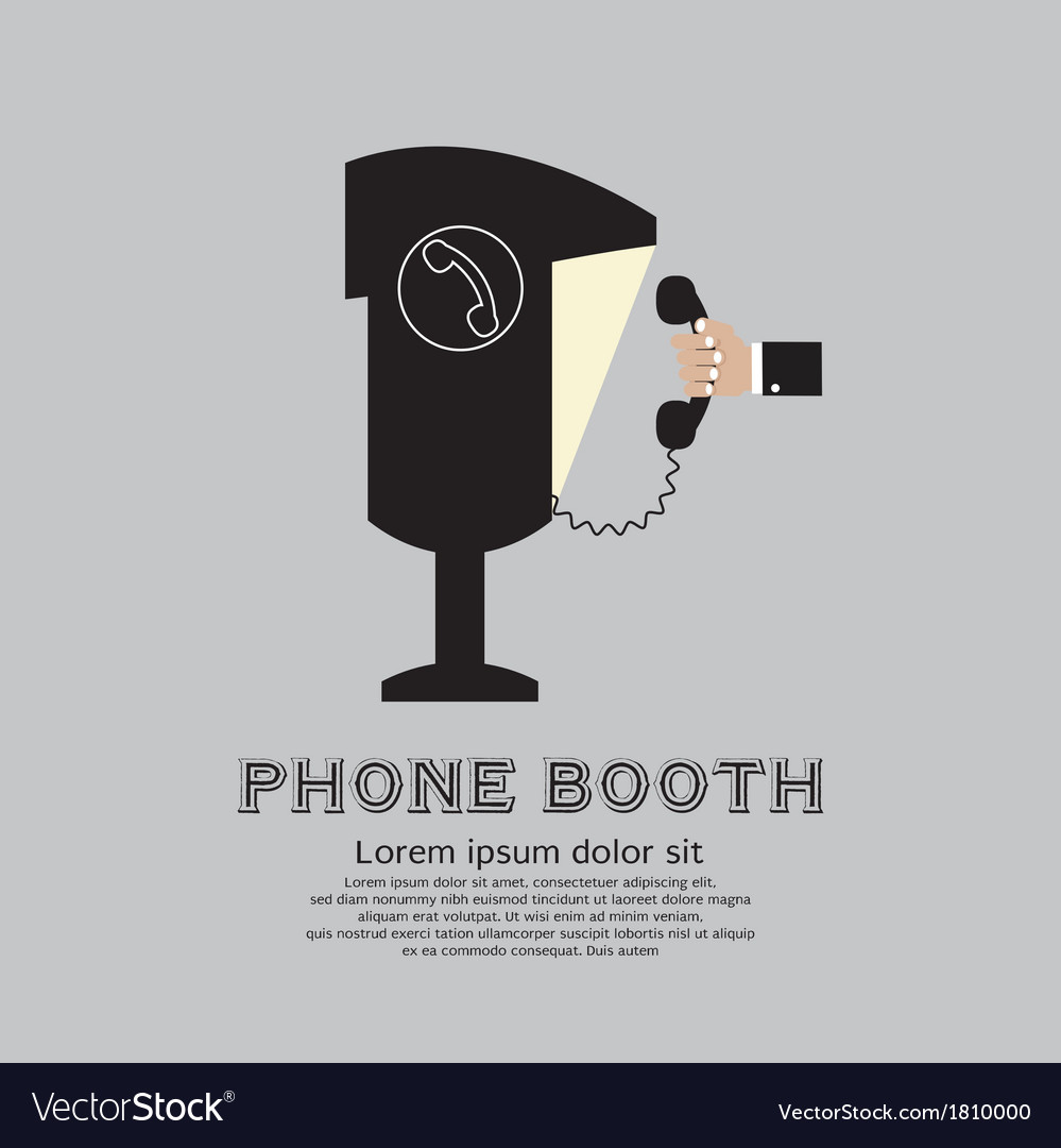 Public phone booth vector | Price: 1 Credit (USD $1)