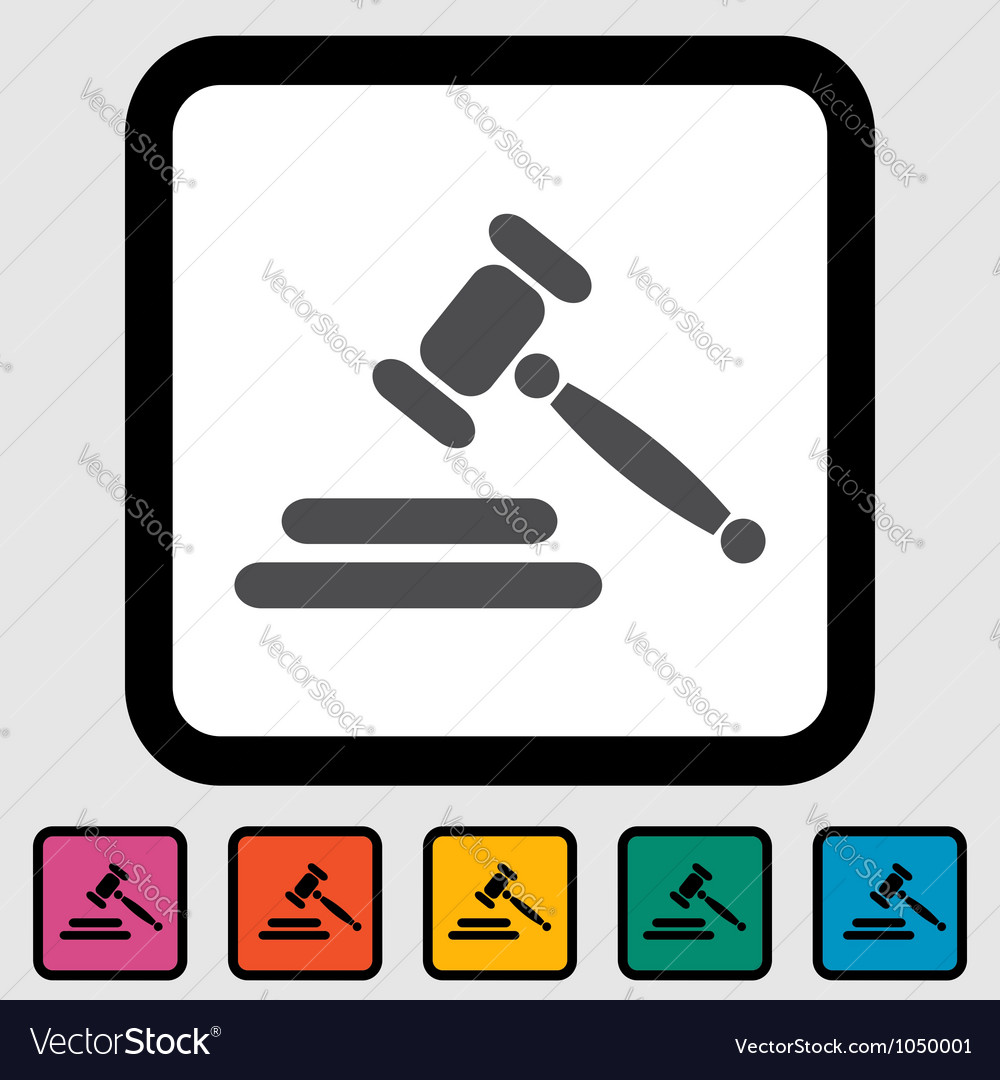 Auction icon vector | Price: 1 Credit (USD $1)