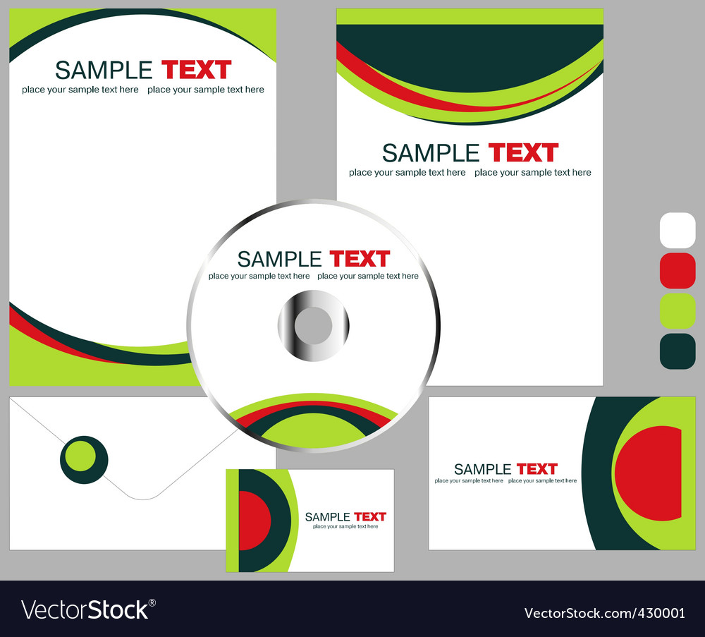 Corporate stationery vector | Price: 1 Credit (USD $1)
