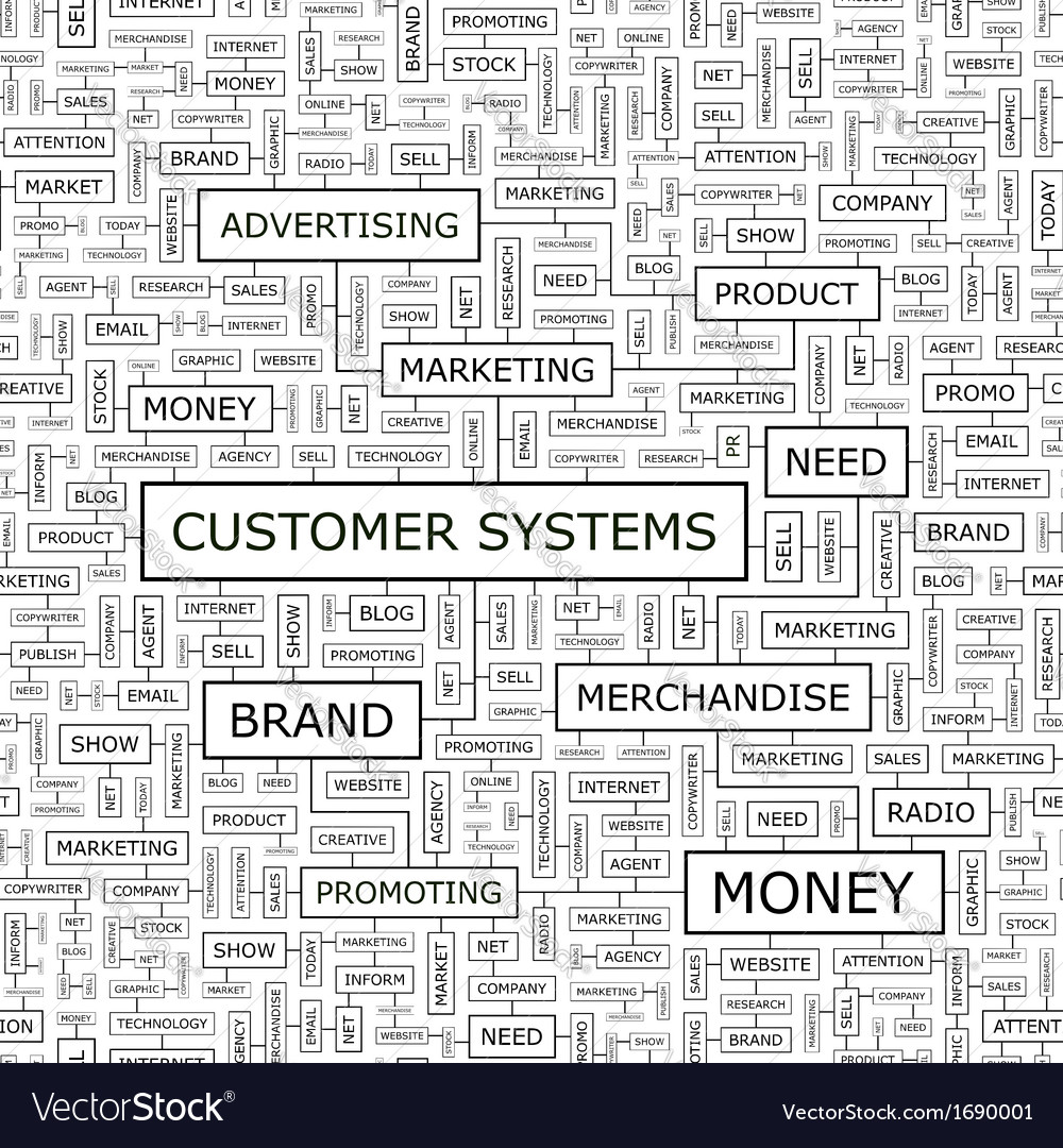 Customer systems vector | Price: 1 Credit (USD $1)