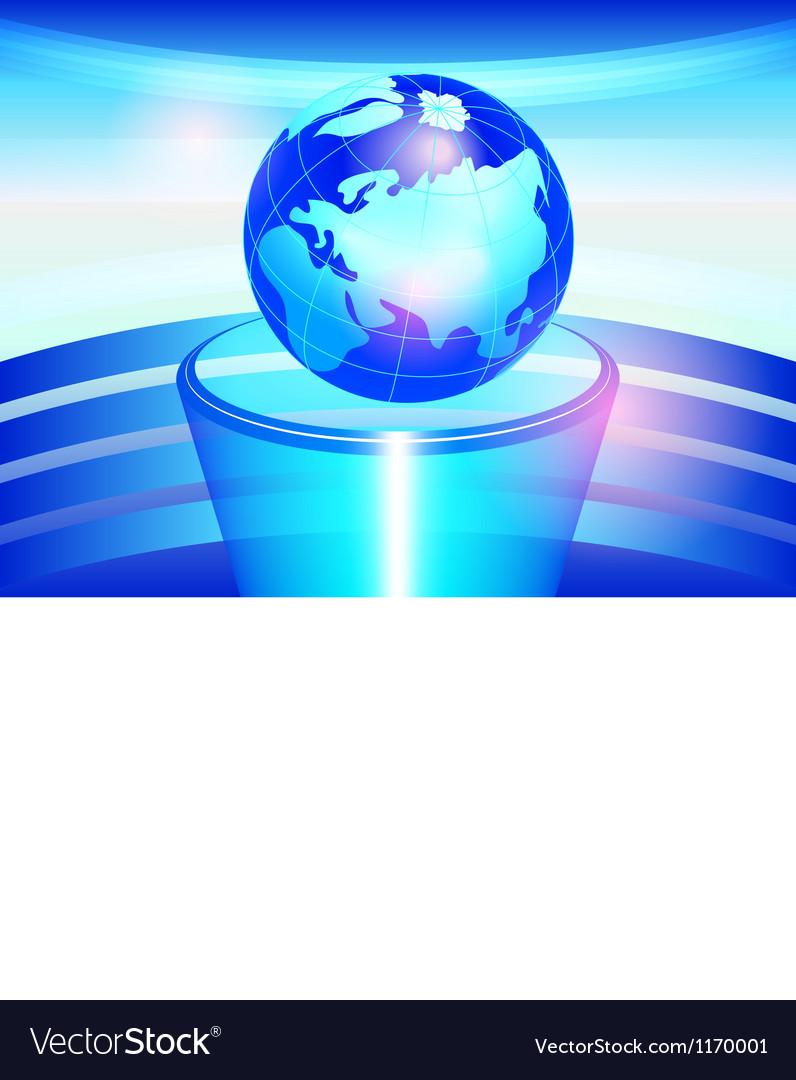 Globe on a pedestal vector | Price: 1 Credit (USD $1)