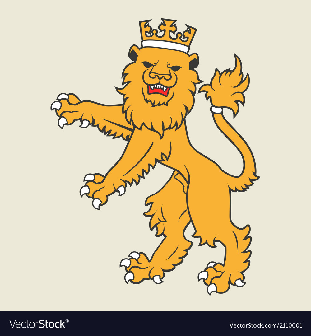 Heraldic lion36 vector | Price: 1 Credit (USD $1)