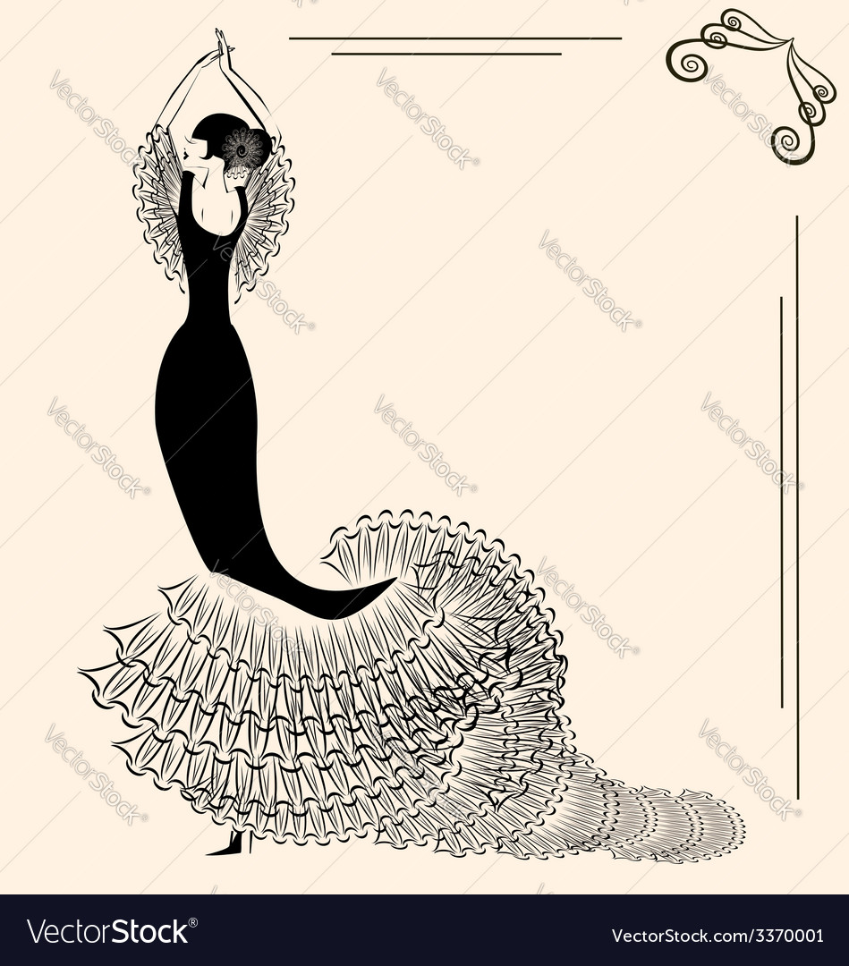 Image of flamenco vector | Price: 1 Credit (USD $1)