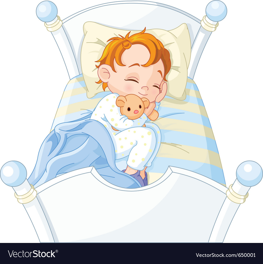 Little boy sleeping vector | Price: 5 Credit (USD $5)