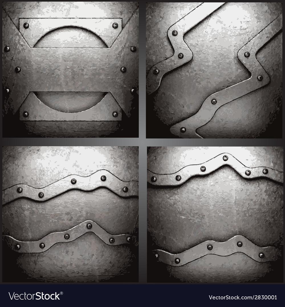 Metal background set vector   Price: 1 Credit (USD $1)