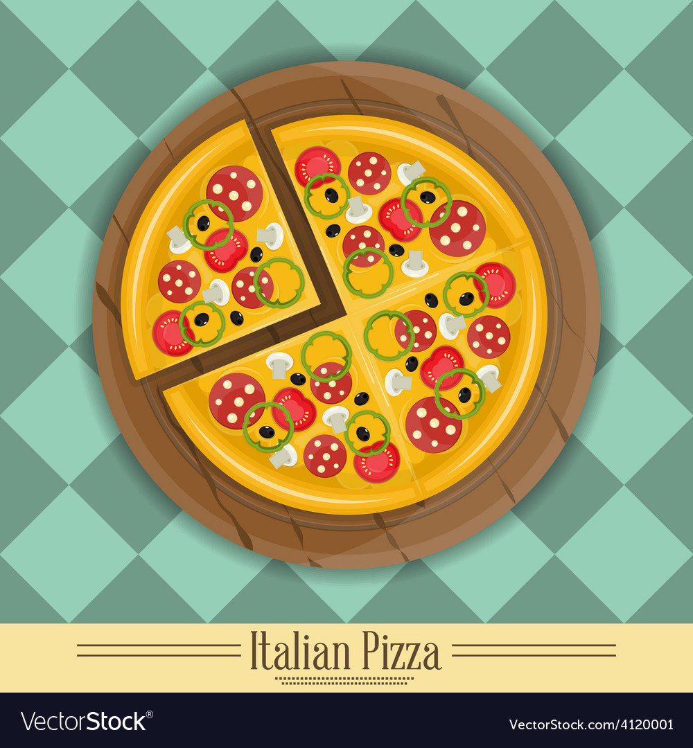 Pizza plate vector | Price: 3 Credit (USD $3)