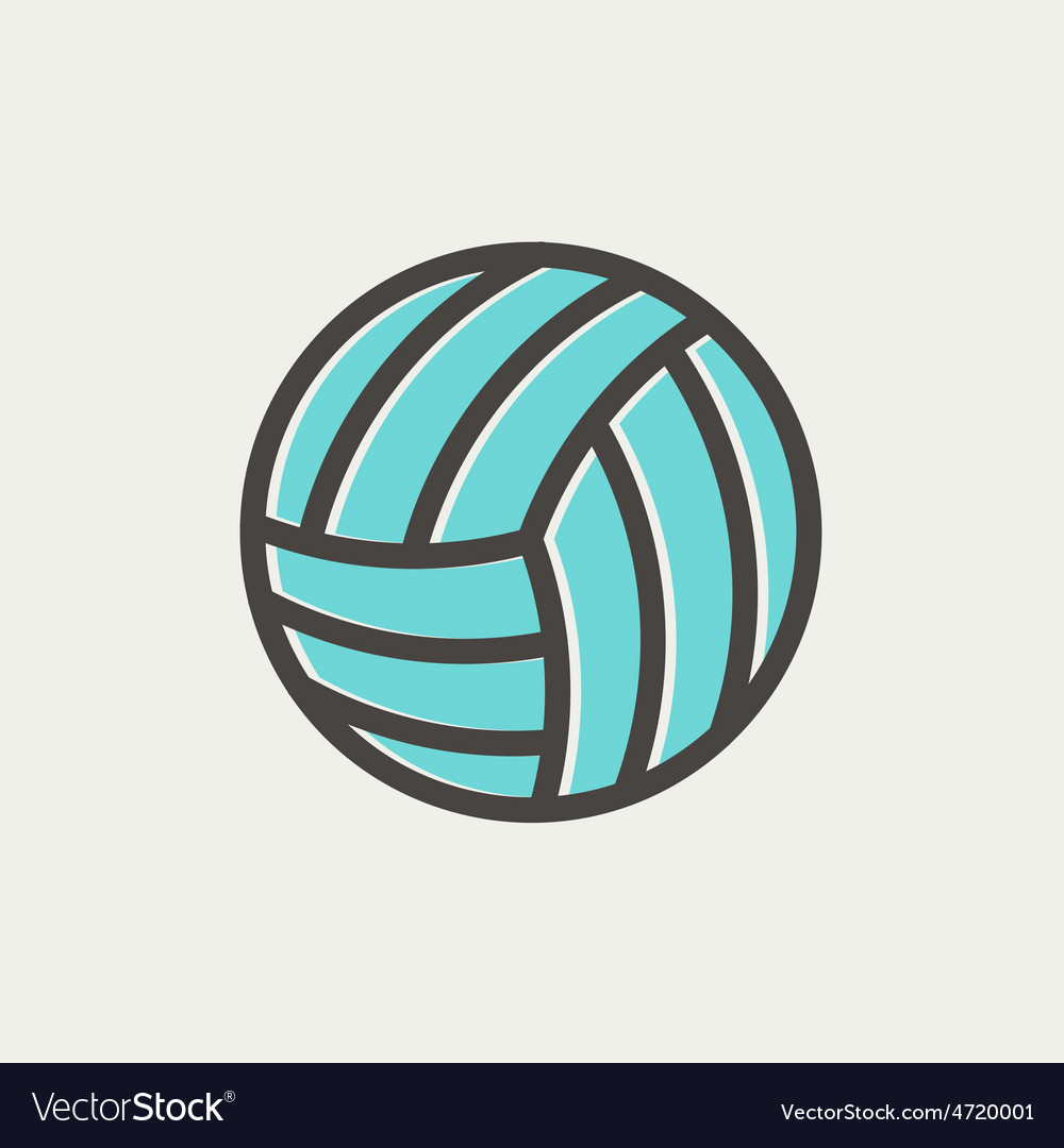 Volleyball ball thin line icon vector | Price: 1 Credit (USD $1)