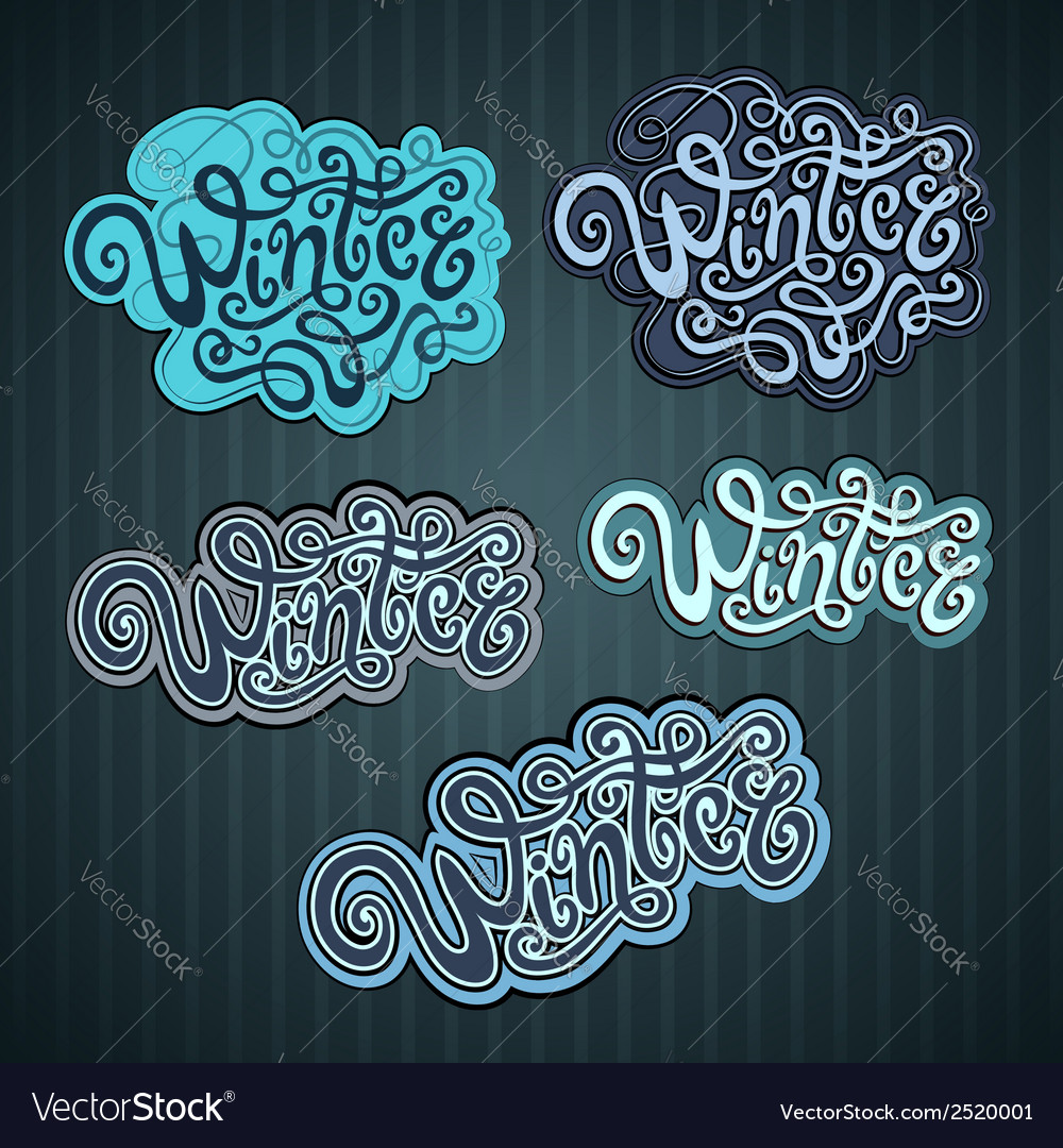 Winter hand lettering vector | Price: 1 Credit (USD $1)