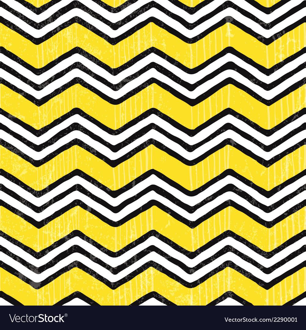 Zigzag seamless pattern hand-drawn background vector | Price: 1 Credit (USD $1)