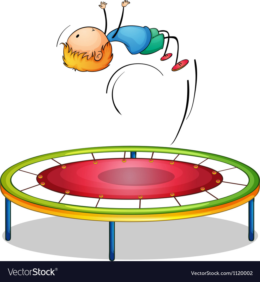 A boy playing trampoline vector   Price: 1 Credit (USD $1)