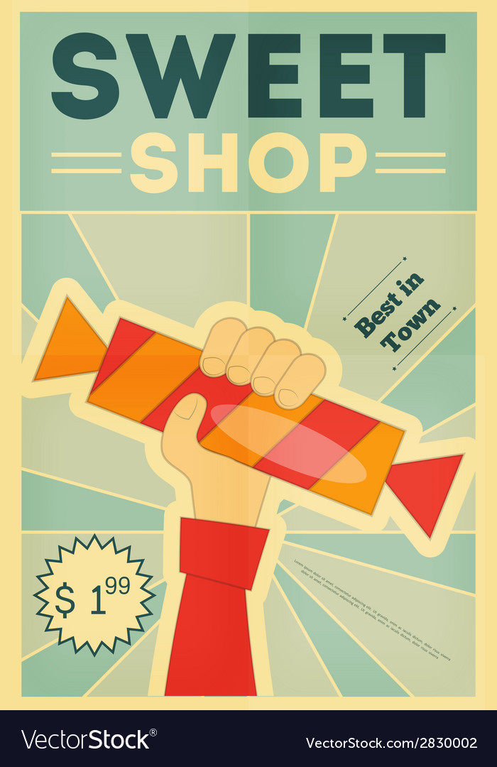 Candy shop hand vector | Price: 1 Credit (USD $1)