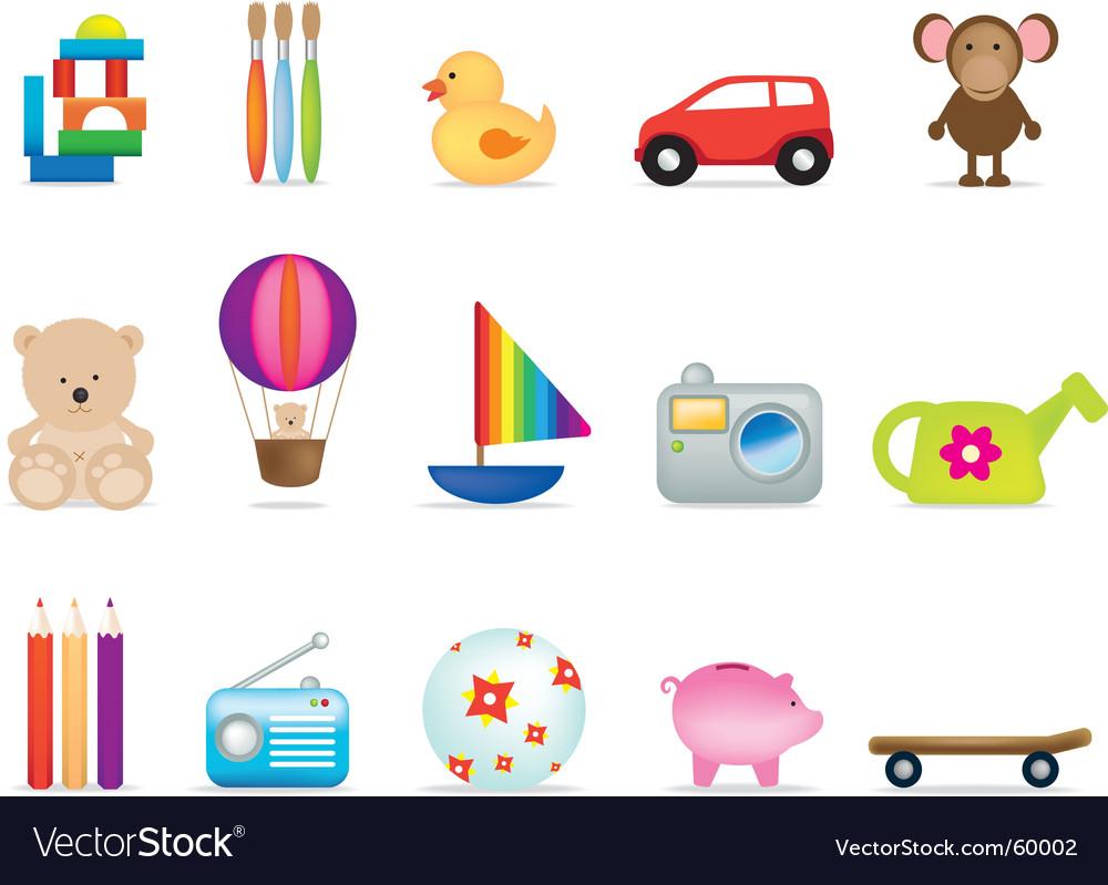 Children's toys vector | Price: 1 Credit (USD $1)
