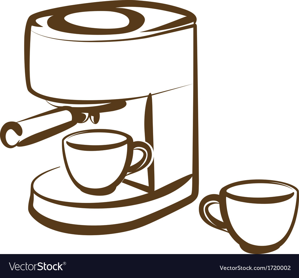 Coffee machine vector | Price: 1 Credit (USD $1)