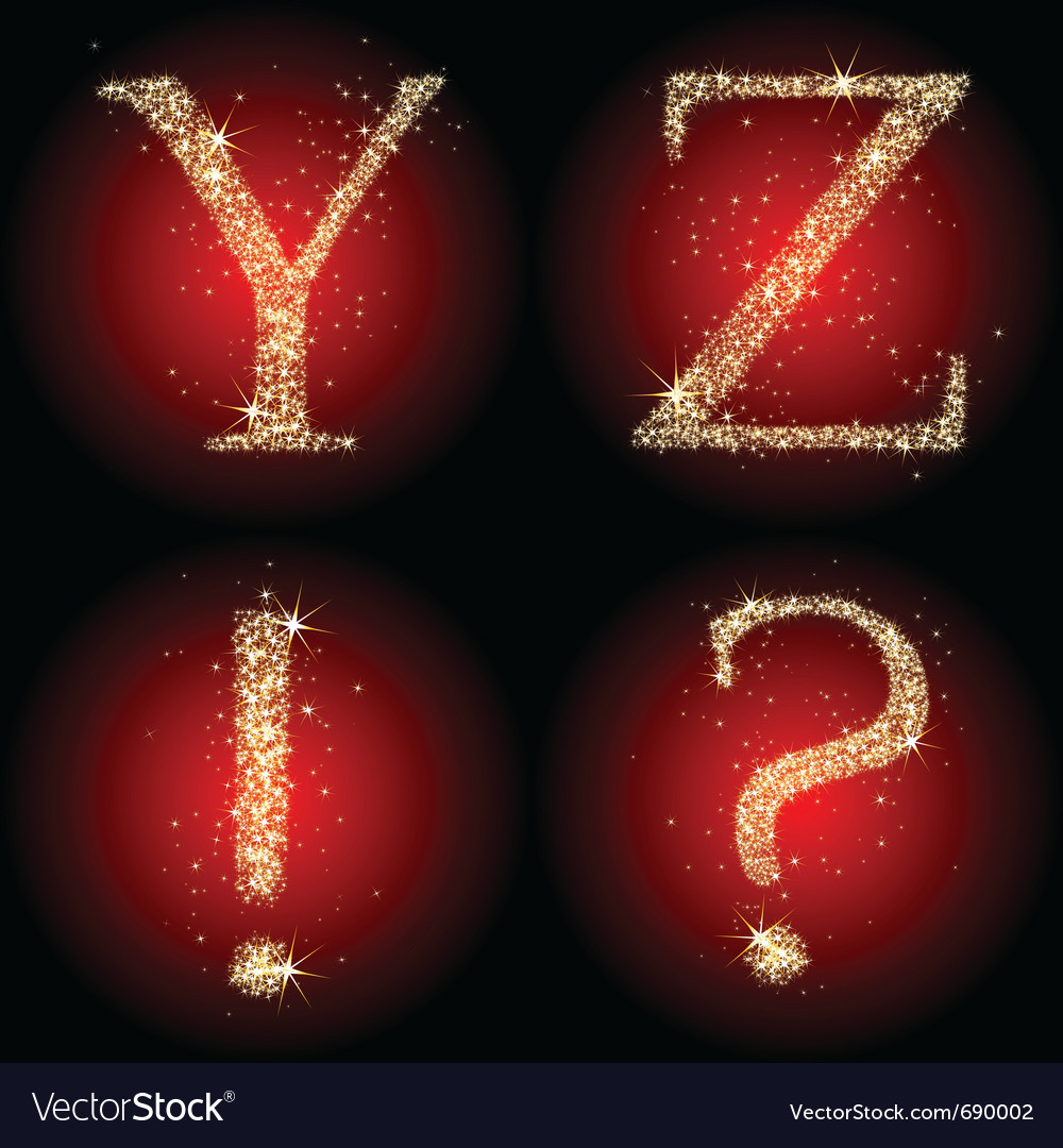 Letters stars red vector | Price: 1 Credit (USD $1)