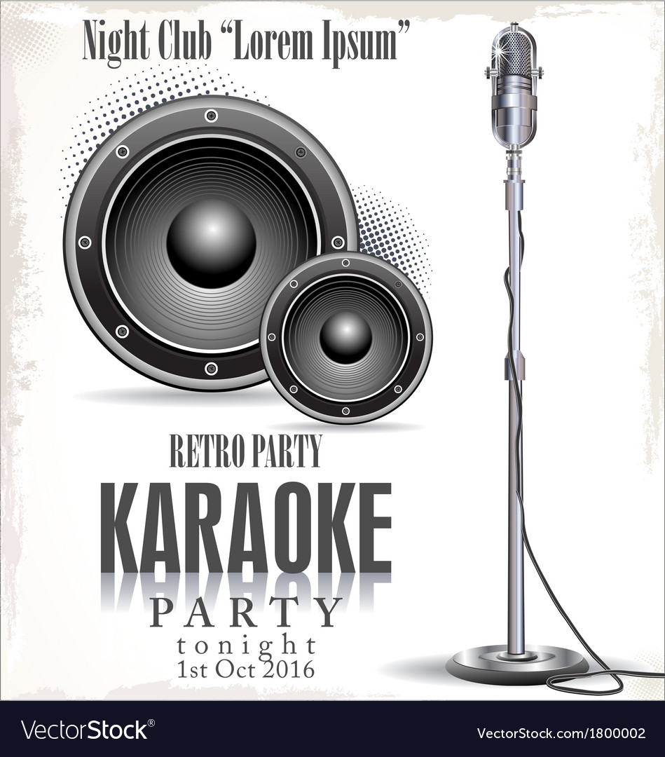 Retro karaoke background vector | Price: 1 Credit (USD $1)