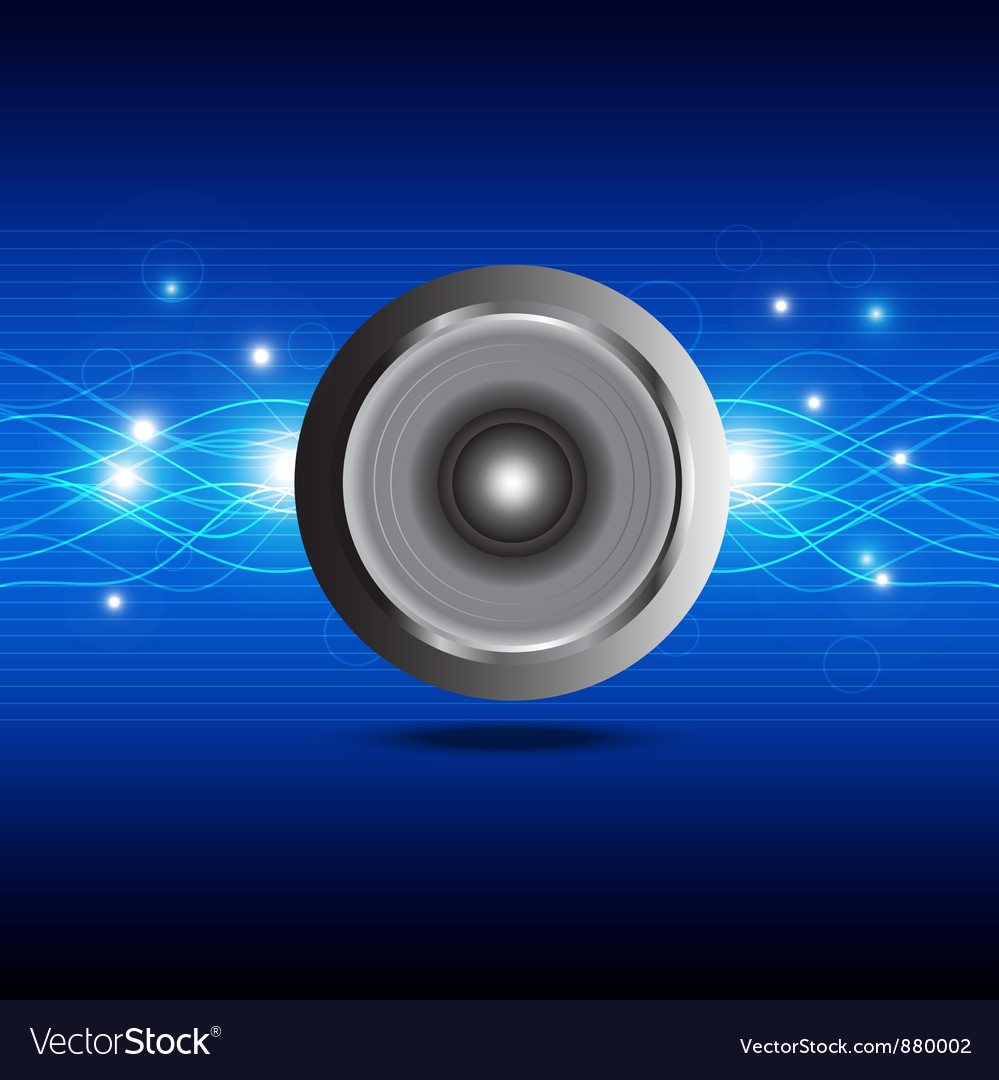 Sound wave from speaker vector | Price: 1 Credit (USD $1)