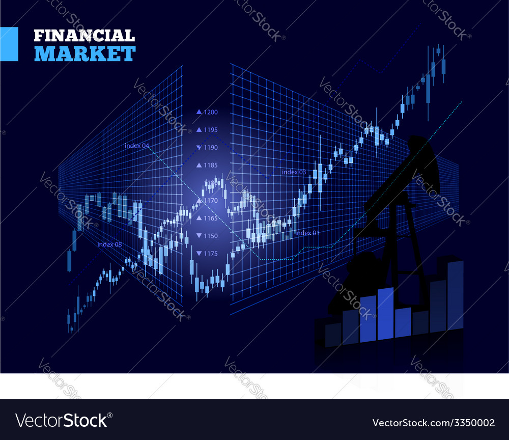 Stock market chart vector | Price: 1 Credit (USD $1)