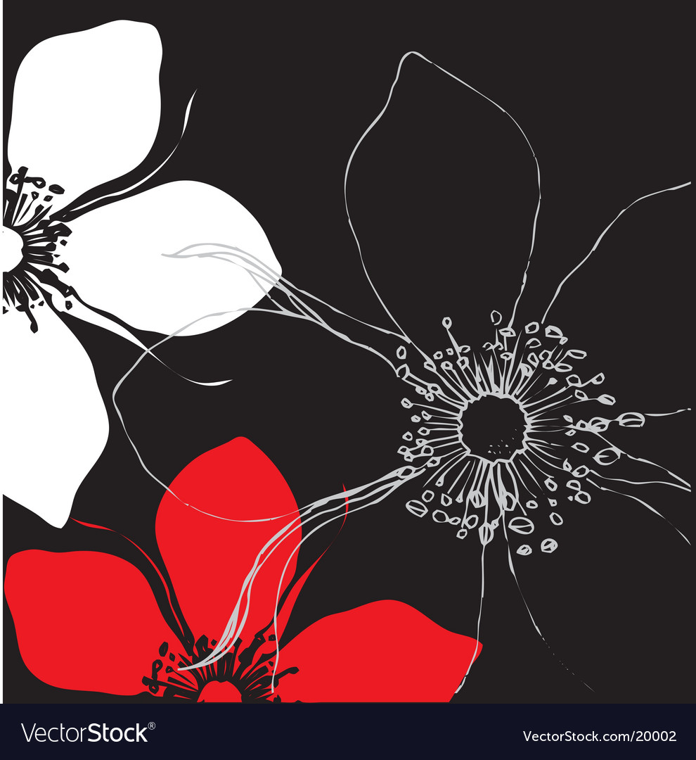 Stylized floral design vector | Price: 1 Credit (USD $1)