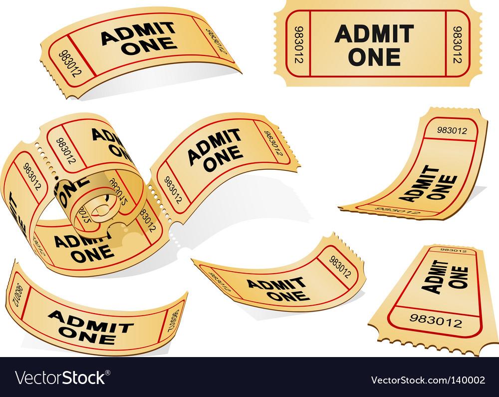 Tickets vector | Price: 1 Credit (USD $1)