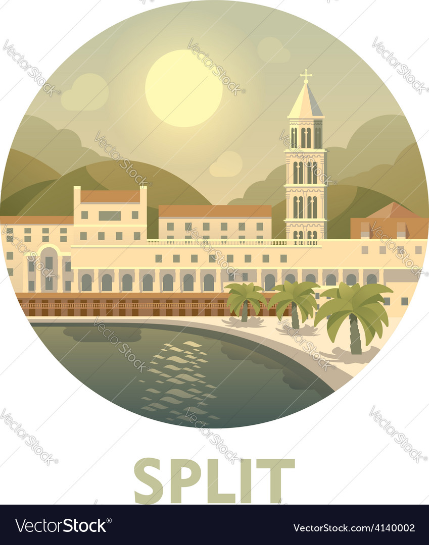 Travel destination split vector | Price: 3 Credit (USD $3)