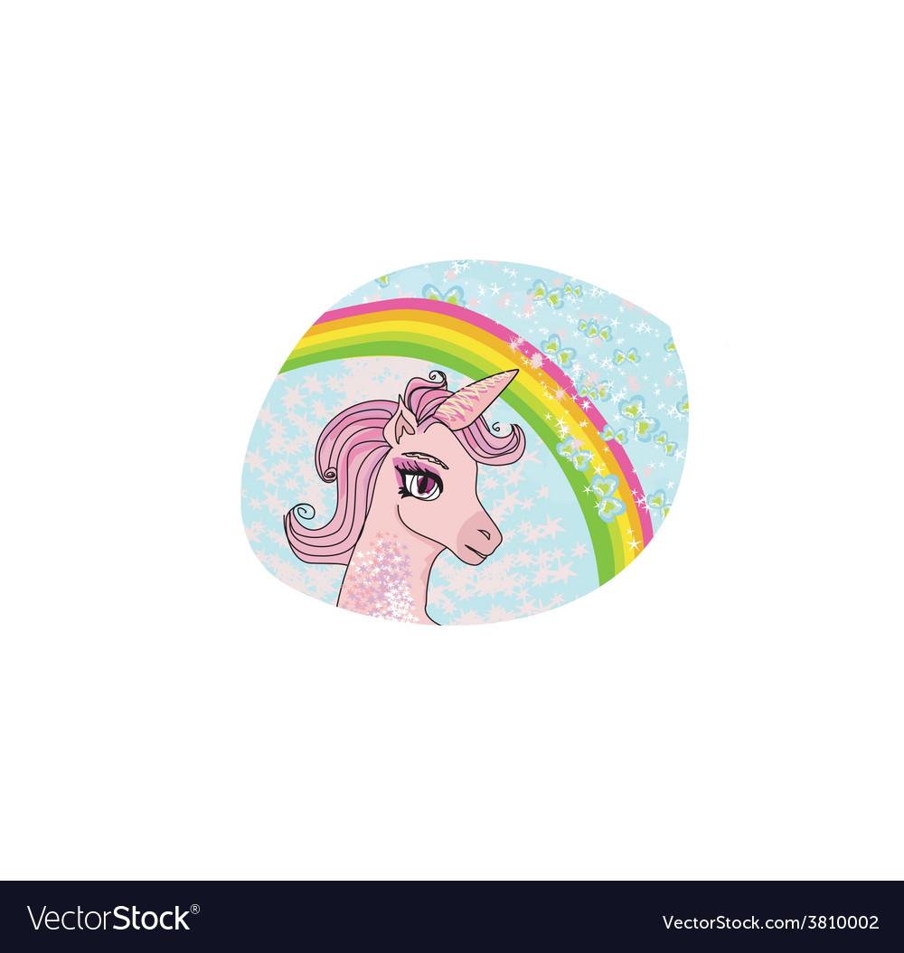 Unicorn with a rainbow vector | Price: 1 Credit (USD $1)