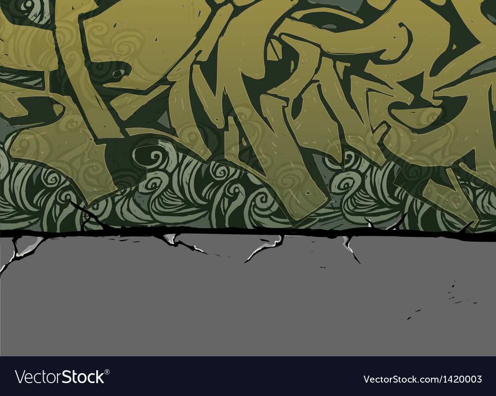 Alleyway graffiti background vector | Price: 1 Credit (USD $1)